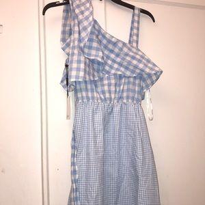One shoulder belted dress